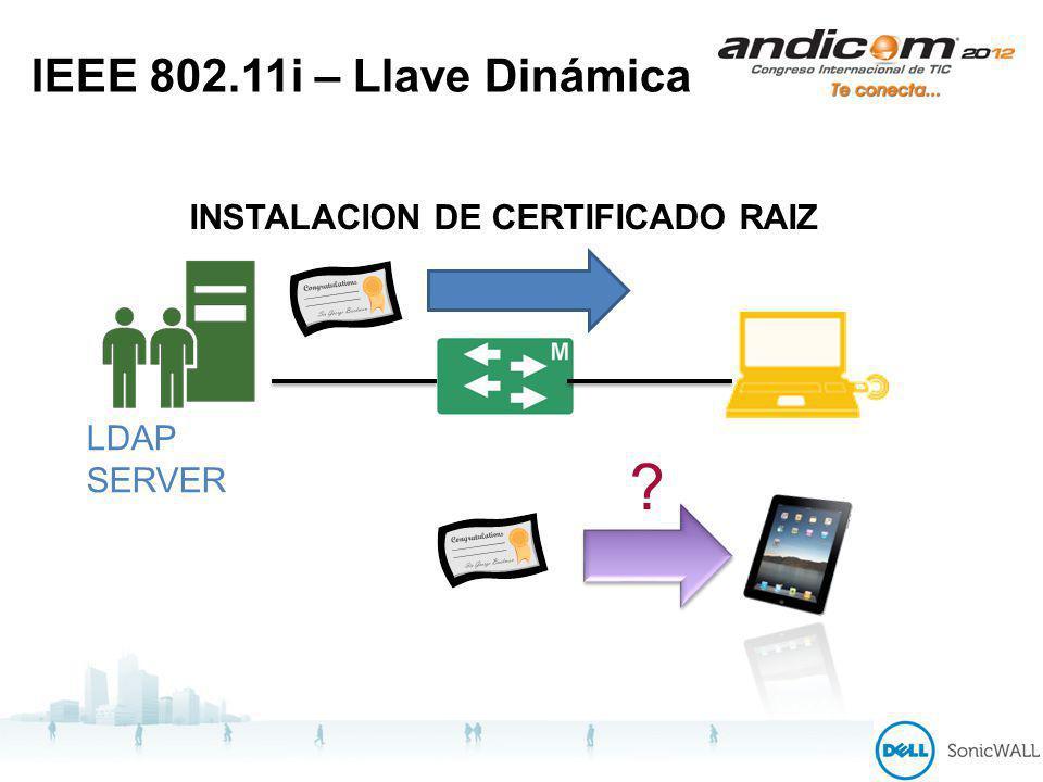 IEEE 802.11i – Llave Dinámica INSTALACION DE CERTIFICADO RAIZ LDAP SERVER