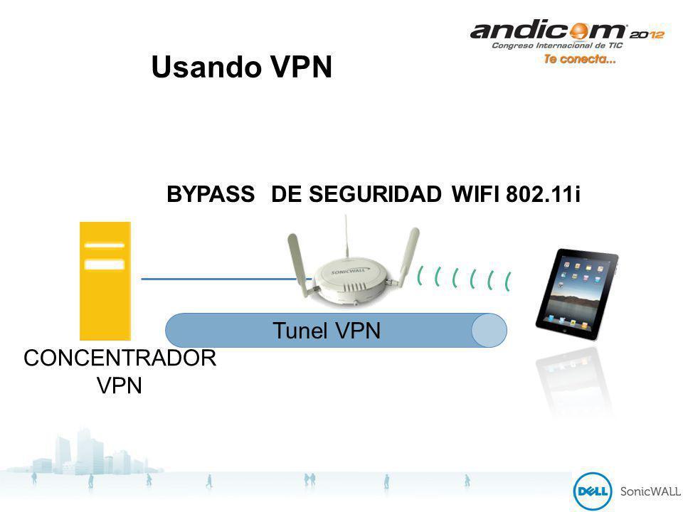 Usando VPN BYPASS DE SEGURIDAD WIFI 802.11i CONCENTRADOR VPN Tunel VPN