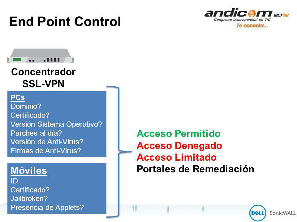 End Point Control Concentrador SSL-VPN PCs Dominio.