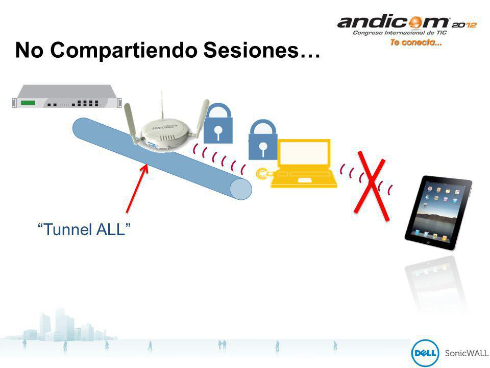 No Compartiendo Sesiones… Tunnel ALL