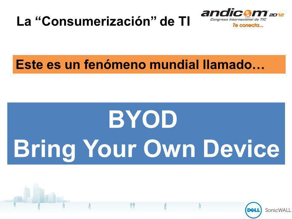 La Consumerización de TI BYOD Bring Your Own Device Este es un fenómeno mundial llamado…