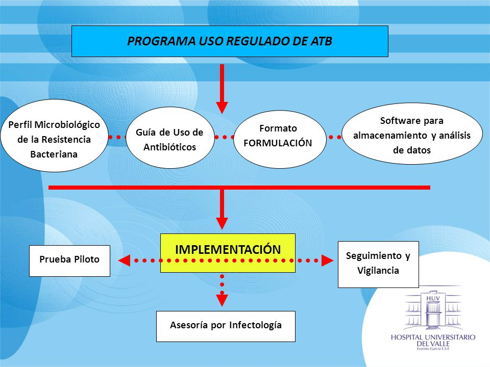 PROGRAMA USO REGULADO DE ATB Perfil Microbiológico de la Resistencia Bacteriana Guía de Uso de Antibióticos Software para almacenamiento y análisis de