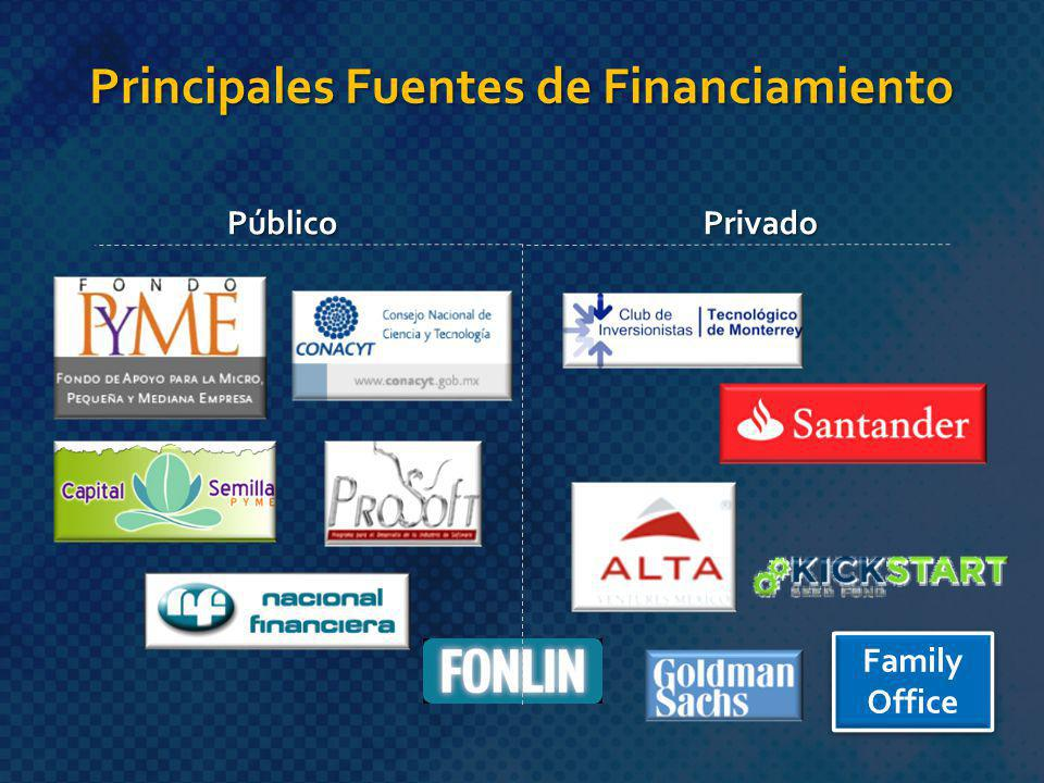 Principales Fuentes de Financiamiento PúblicoPrivado Family Office Family Office