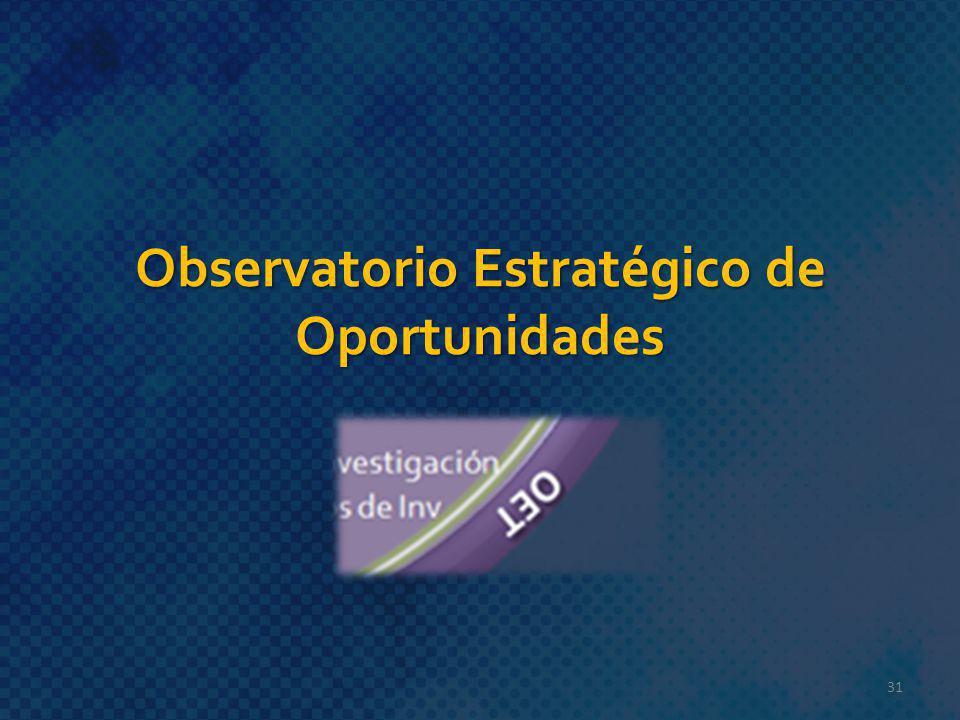 Observatorio Estratégico de Oportunidades 31