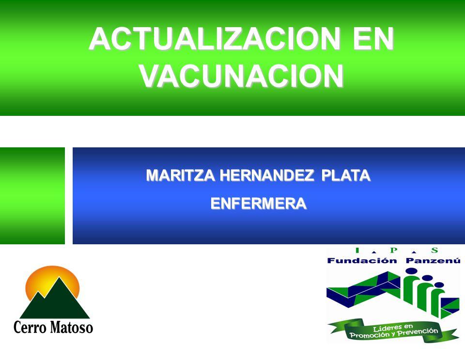 MARITZA HERNANDEZ PLATA ENFERMERA ACTUALIZACION EN VACUNACION