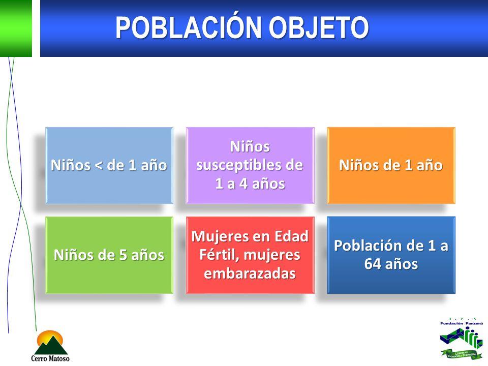 OBJETIVO GENERAL Eliminar, Erradicar y Controlar las enfermedades inmunoprevenibles en Colombia, con el fin de disminuir las tasas de mortalidad y morbilidad causadas por estas enfermedades en la población menor de 5 años