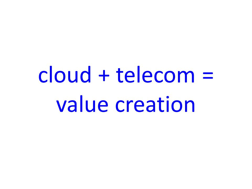 cloud + telecom = value creation