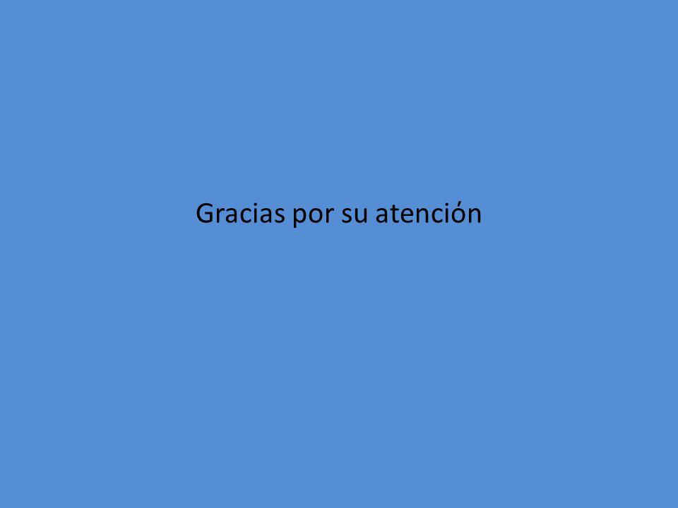 Gracias por su atencin