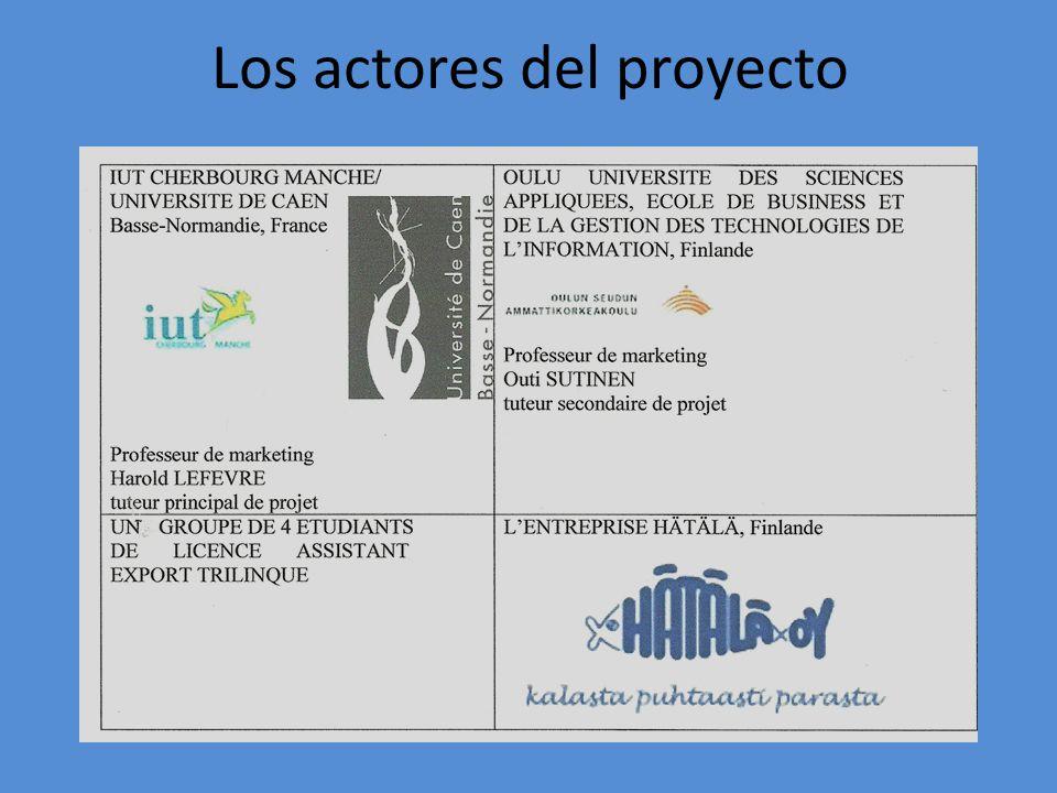 Los actores del proyecto