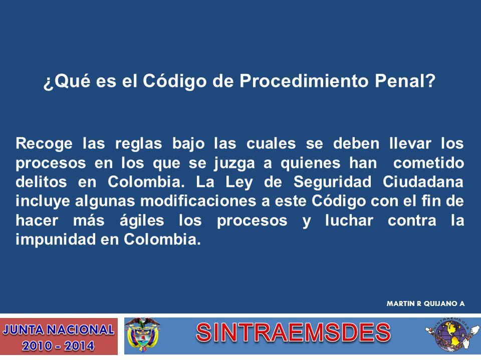 ¿Qué es el Código de Procedimiento Penal? Recoge las reglas bajo las cuales se deben llevar los procesos en los que se juzga a quienes han cometido de