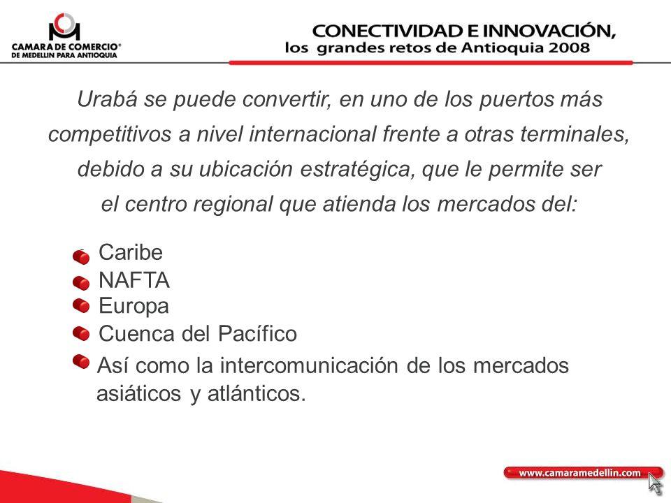 Urabá se puede convertir, en uno de los puertos más competitivos a nivel internacional frente a otras terminales, debido a su ubicación estratégica, q