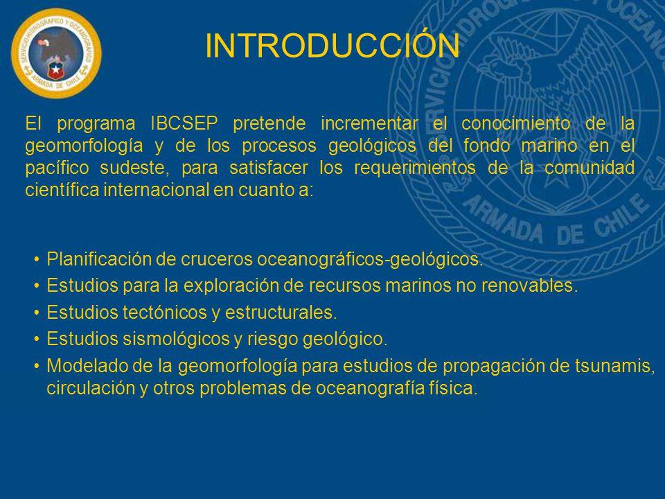 Planificación de cruceros oceanográficos-geológicos. Estudios para la exploración de recursos marinos no renovables. Estudios tectónicos y estructural