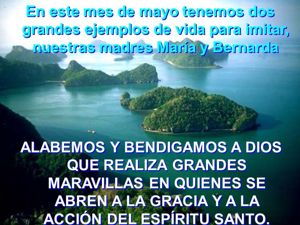 María se hizo templo de la Trinidad, Madre Bernarda hizo de su interioridad una tienda para el Dios Uno y Trino