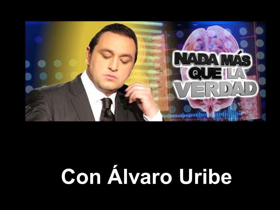 Bienvenidos al programa de hoy con nuestro invitado el señor Presidente Álvaro Uribe Vélez como es costumbre a las preguntas solamente podrá contestar SI o NO.
