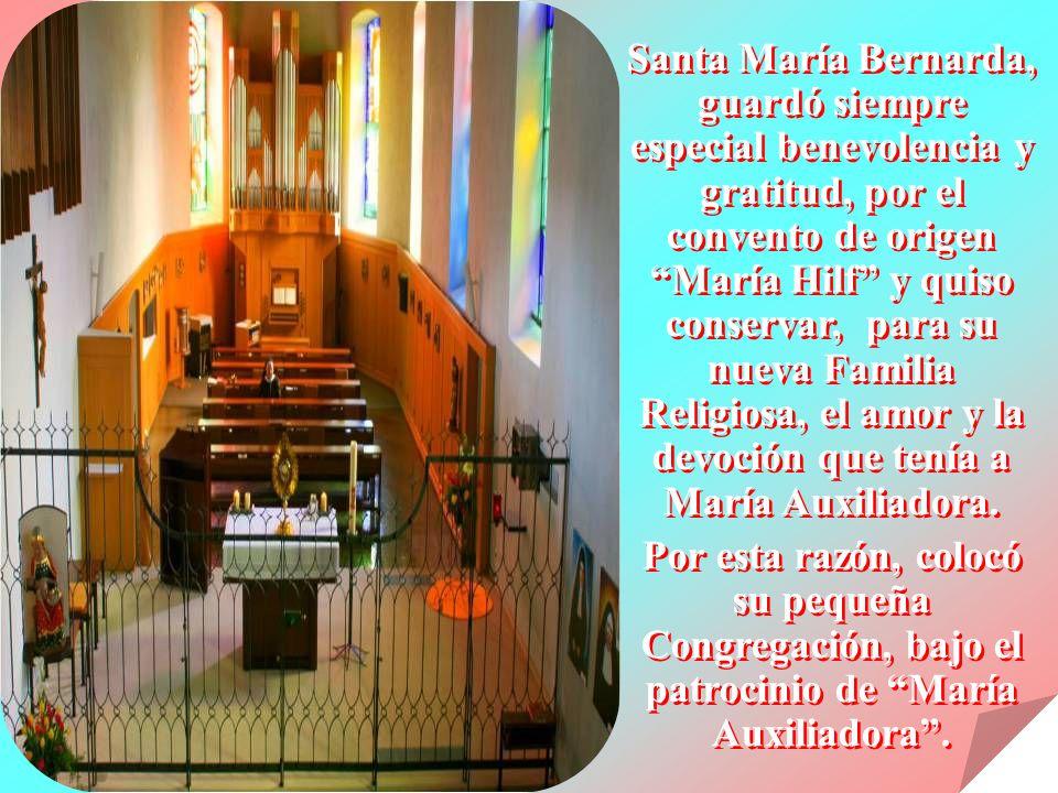 María es y será siempre, la Madre, Patrona y Auxiliadora nuestra. Corresponde a cada Hermana de la Congregación, el deber de, vivir y difundir esta ge