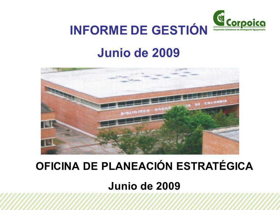 INFORME DE GESTIÓN Junio de 2009 OFICINA DE PLANEACIÓN ESTRATÉGICA Junio de 2009