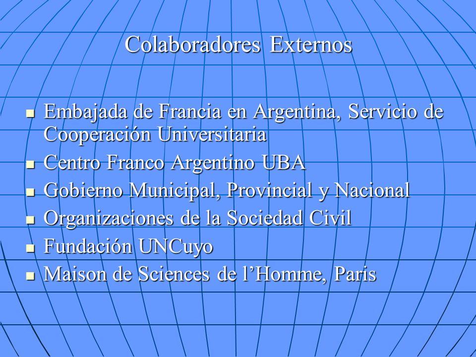 Colaboradores Externos Embajada de Francia en Argentina, Servicio de Cooperación Universitaria Embajada de Francia en Argentina, Servicio de Cooperaci