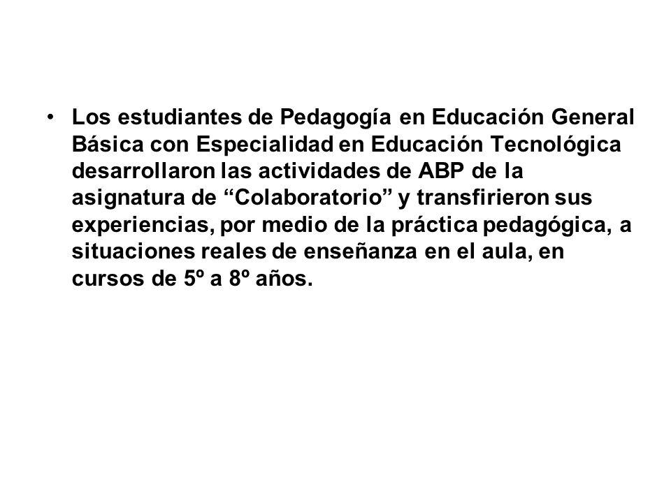 Los estudiantes de Pedagogía en Educación General Básica con Especialidad en Educación Tecnológica desarrollaron las actividades de ABP de la asignatu