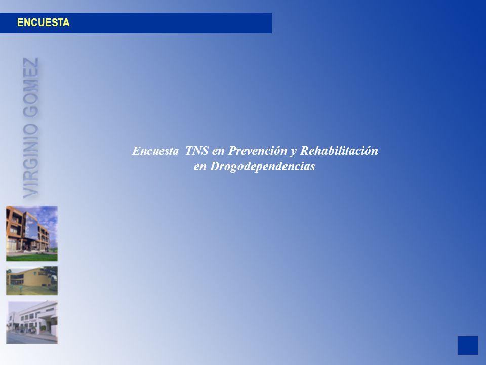 ENCUESTA Encuesta TNS en Prevención y Rehabilitación en Drogodependencias