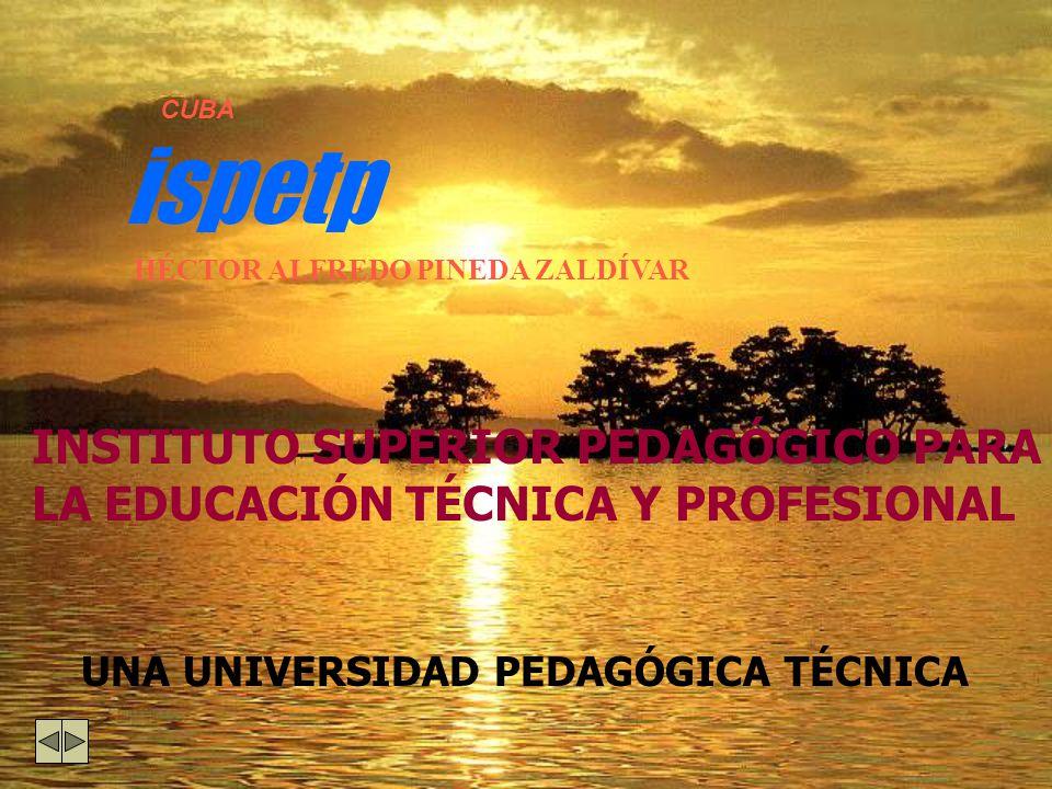 EDUCACIÓN TÉCNICA Y PROFESIONAL 449 INSTITUCIONES DOCENTES 309 INSTITUTOS POLITÉCNICOS (69 AGR.; 78 IND.;103 ECON; 32 SERVICIOS; 27 INFORMATICA.) 135 ESCUELAS DE OFICIOS 52 ESPECIALIDADES 18, 119 PROFESORES; 211,117 ALUMNOS