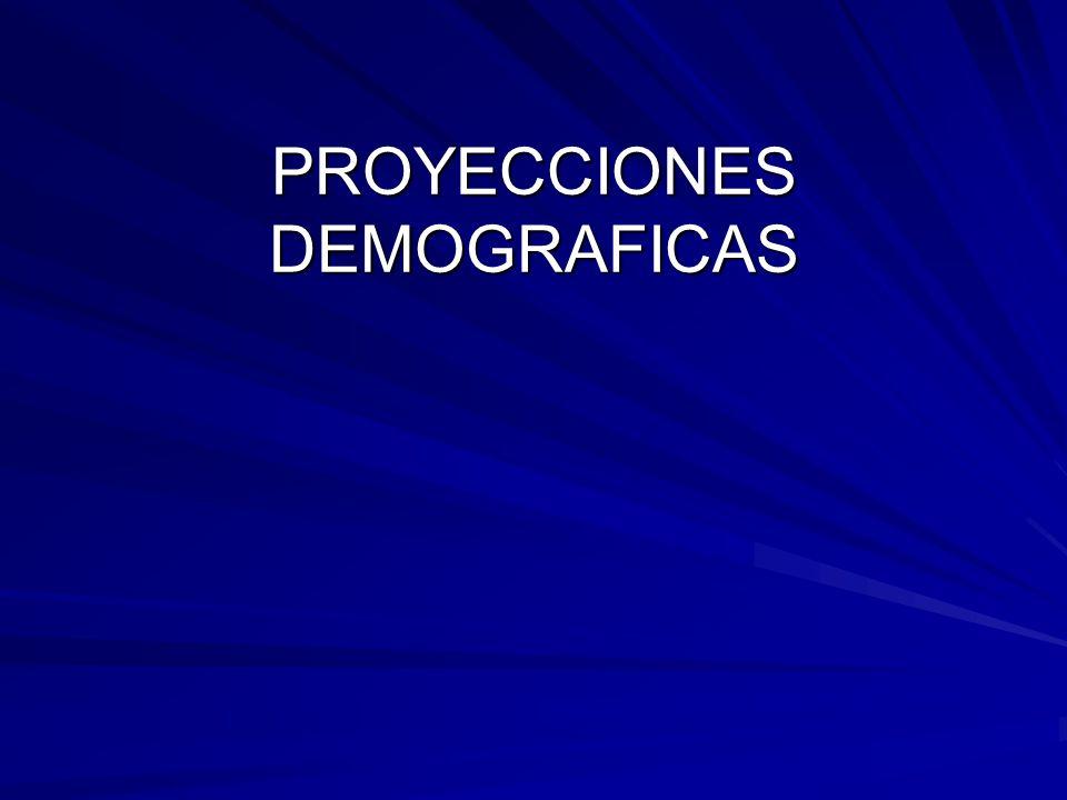 PROYECCIONES DEMOGRAFICAS