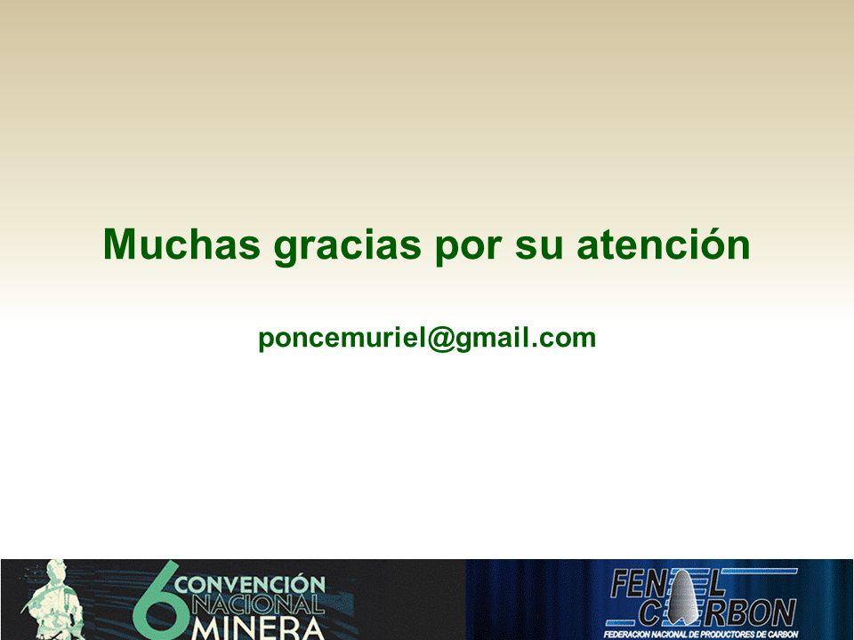 Muchas gracias por su atención poncemuriel@gmail.com