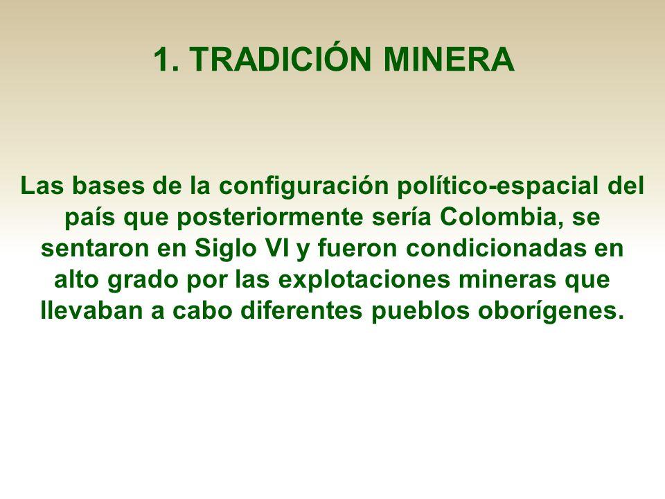 Las bases de la configuración político-espacial del país que posteriormente sería Colombia, se sentaron en Siglo VI y fueron condicionadas en alto gra