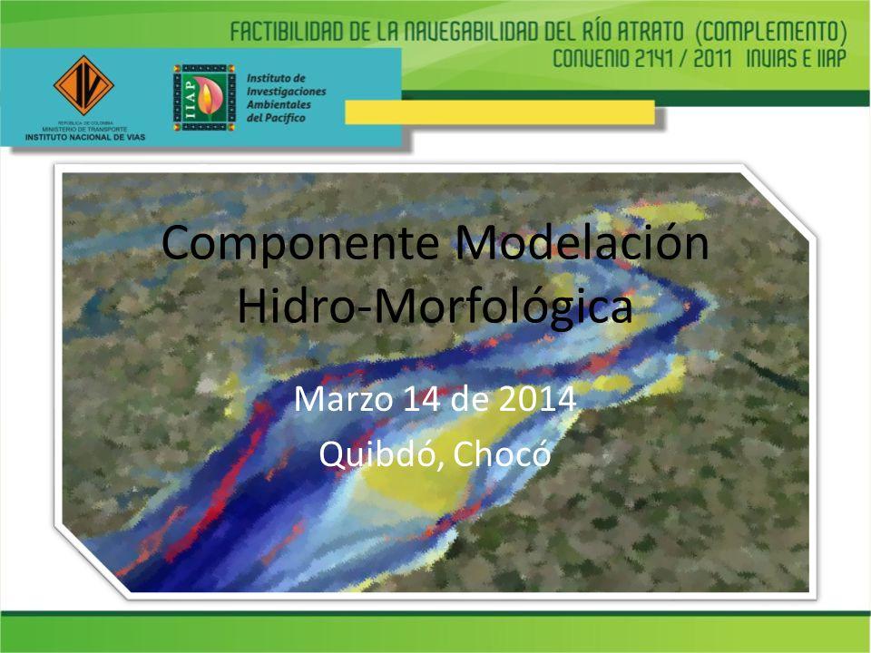 Componente Modelación Hidro-Morfológica Marzo 14 de 2014 Quibdó, Chocó