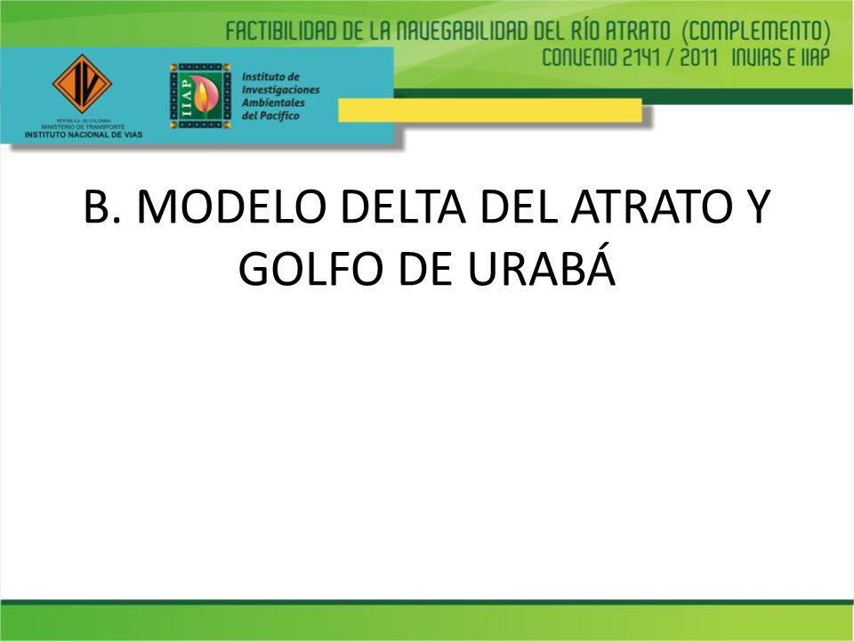 B. MODELO DELTA DEL ATRATO Y GOLFO DE URABÁ
