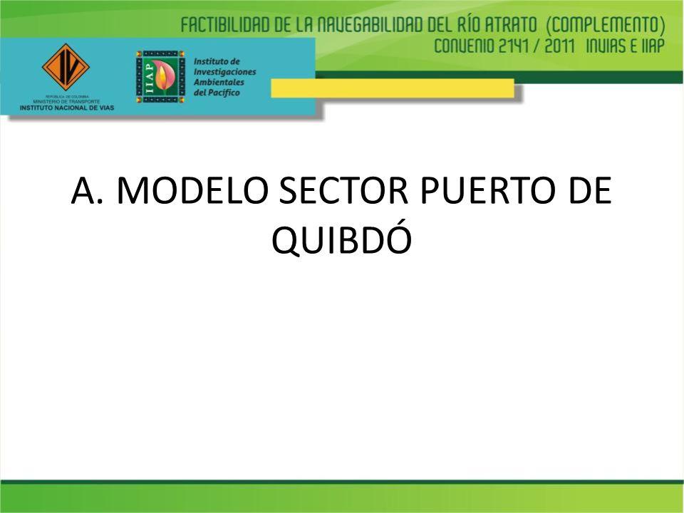 A. MODELO SECTOR PUERTO DE QUIBDÓ