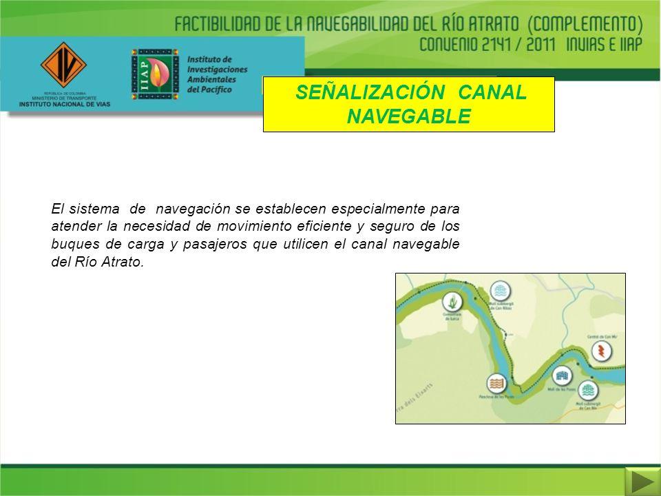 SEÑALIZACIÓN CANAL NAVEGABLE El sistema de navegación se establecen especialmente para atender la necesidad de movimiento eficiente y seguro de los bu