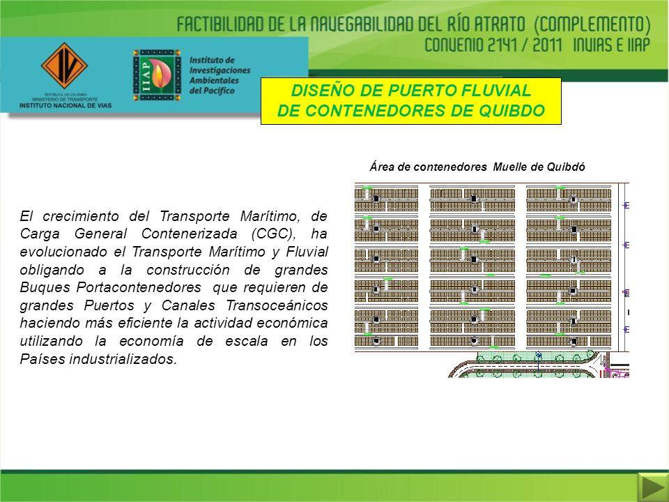 El crecimiento del Transporte Marítimo, de Carga General Contenerizada (CGC), ha evolucionado el Transporte Marítimo y Fluvial obligando a la construc