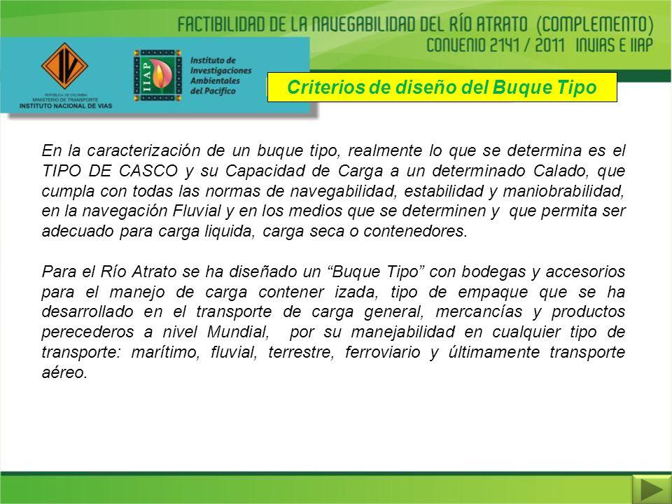 En la caracterización de un buque tipo, realmente lo que se determina es el TIPO DE CASCO y su Capacidad de Carga a un determinado Calado, que cumpla