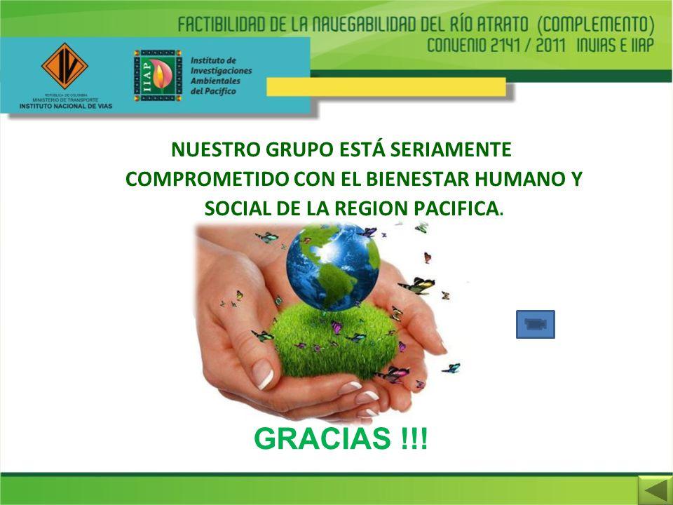 NUESTRO GRUPO ESTÁ SERIAMENTE COMPROMETIDO CON EL BIENESTAR HUMANO Y SOCIAL DE LA REGION PACIFICA. GRACIAS !!!