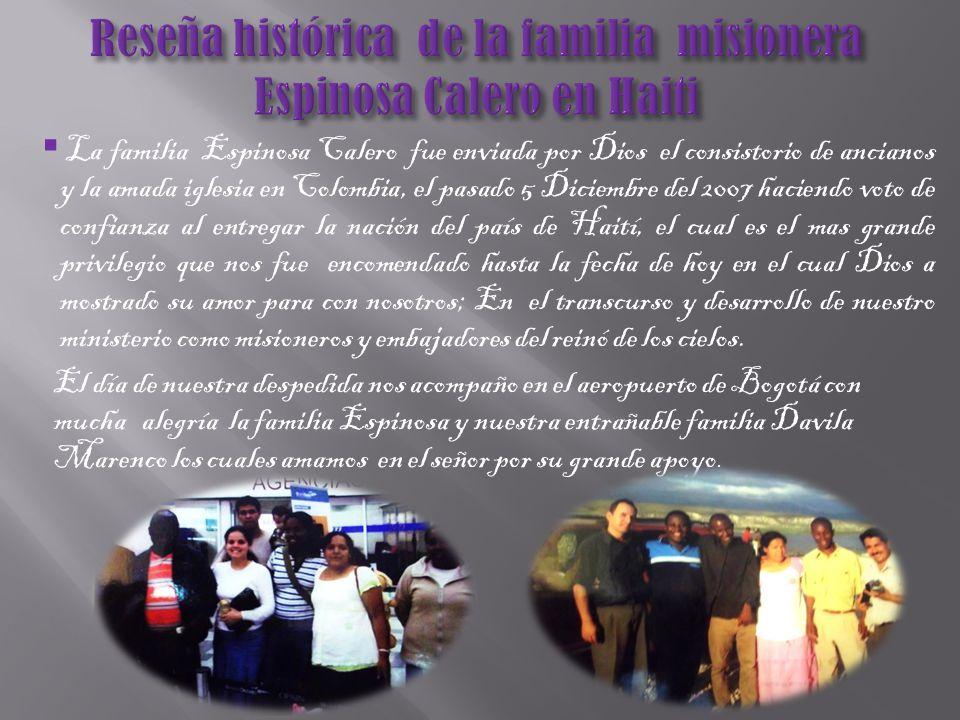 Estamos agradeciendo a nuestro amado consistorio de ancianos a nuestro presidente Fernando Lopez y a la amada iglesia en Colombia. Dándole las gracias