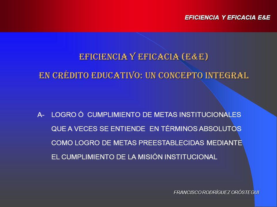 B-DESDE UNA DIMENSIÓN SOCIAL, ES LA CAPACIDAD DE LAS ICEs Y LOS PCEs DE ENTREGAR A TODOS LOS BENEFICIARIOS, SIN NINGÚN TIPO DE DISTINCIÓN, UNA FINANCIACIÓN ADECUADA.