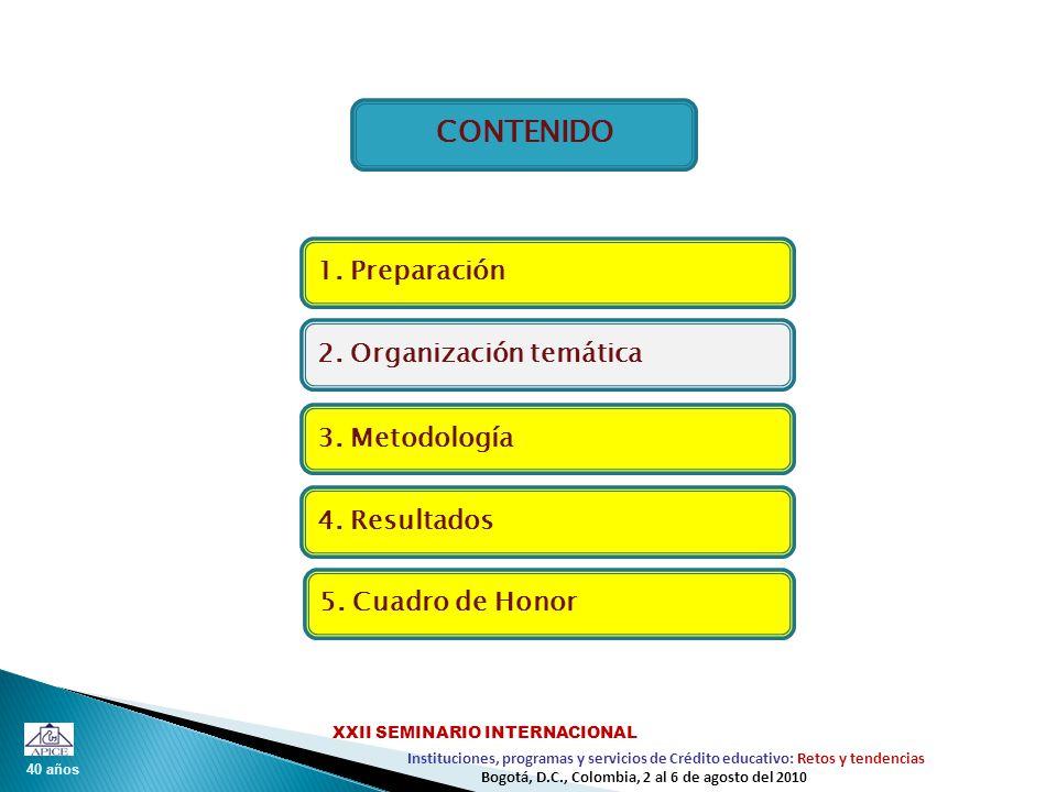 40 años Instituciones, programas y servicios de Crédito educativo: Retos y tendencias XXII SEMINARIO INTERNACIONAL Bogotá, D.C., Colombia, 2 al 6 de agosto del 2010 I.