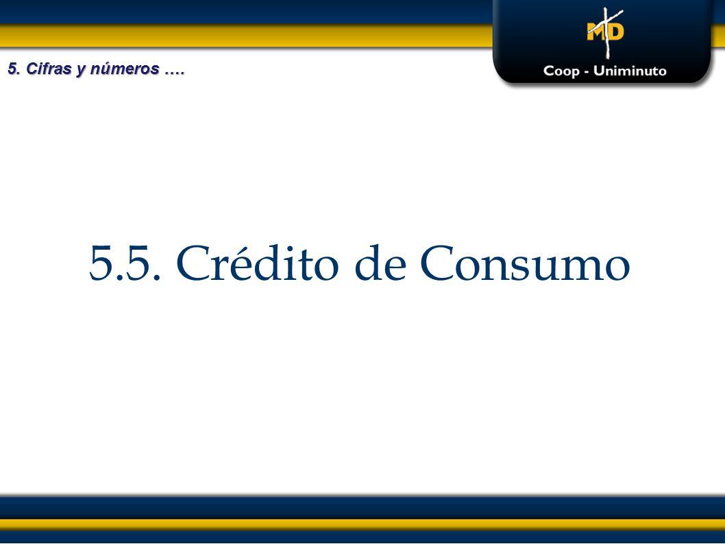 5.5. Crédito de Consumo 5. Cifras y números ….