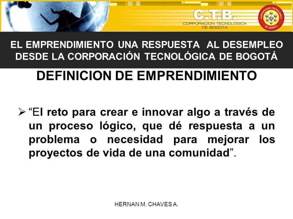 DEFINICION DE EMPRENDIMIENTO El reto para crear e innovar algo a través de un proceso lógico, que dé respuesta a un problema o necesidad para mejorar