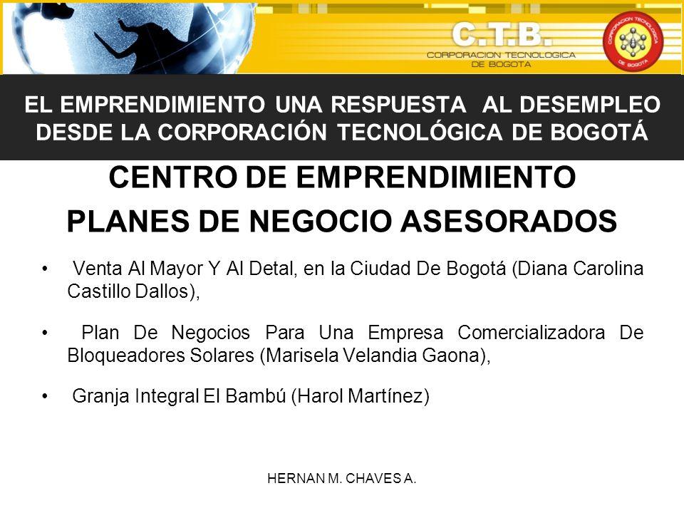 CENTRO DE EMPRENDIMIENTO PLANES DE NEGOCIO ASESORADOS Venta Al Mayor Y Al Detal, en la Ciudad De Bogotá (Diana Carolina Castillo Dallos), Plan De Nego