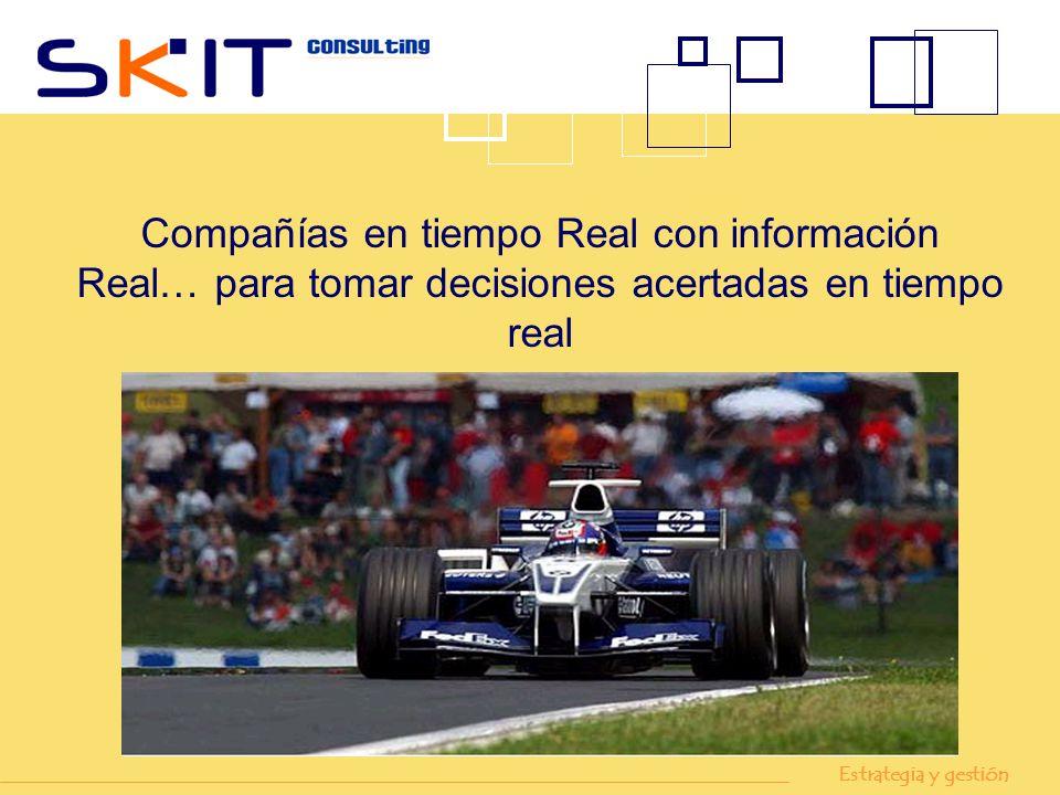 Compañías en tiempo Real con información Real… para tomar decisiones acertadas en tiempo real