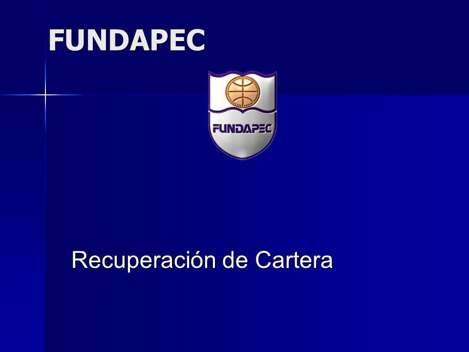 FUNDAPEC Recuperación de Cartera