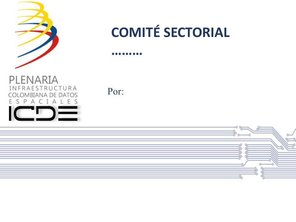 Miembros del comité sectorial