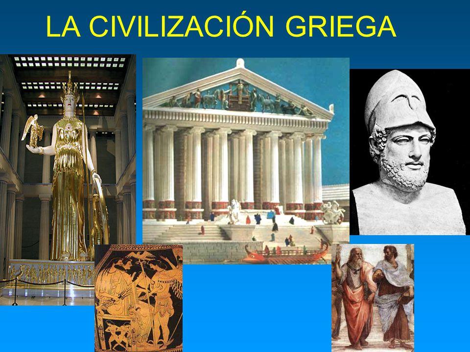 FILOSOFÍA Los griegos fueron los primeros en explicar los fenómenos de la naturaleza y el comportamiento humano sin recurrir al mito sino valiéndose de la razón y la lógica, inventando la filosofía y la ciencia.