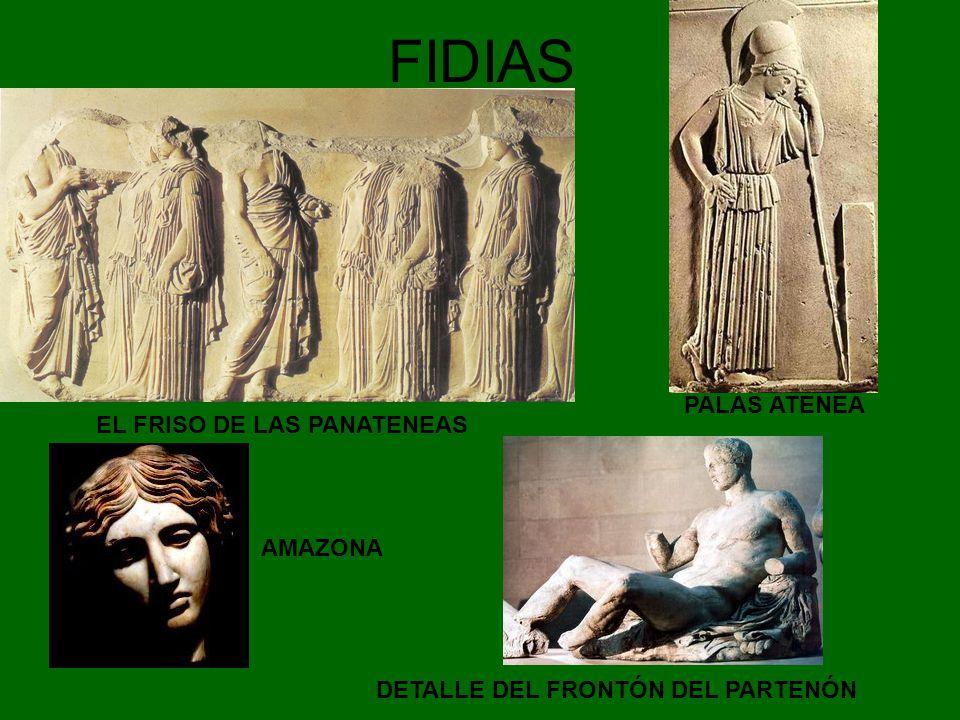 FIDIAS EL FRISO DE LAS PANATENEAS DETALLE DEL FRONTÓN DEL PARTENÓN PALAS ATENEA AMAZONA
