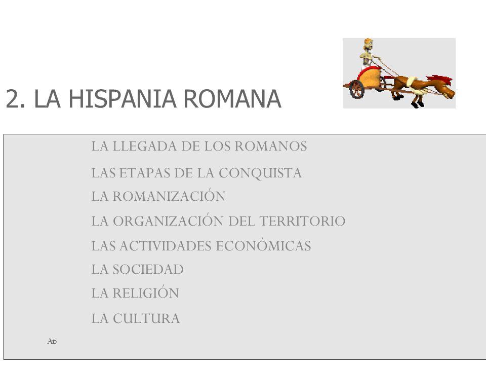 Autora.- Ana Hinojosa Esteo 2. LA HISPANIA ROMANA LA LLEGADA DE LOS ROMANOS LAS ETAPAS DE LA CONQUISTA LA ROMANIZACIÓN LA ORGANIZACIÓN DEL TERRITORIO