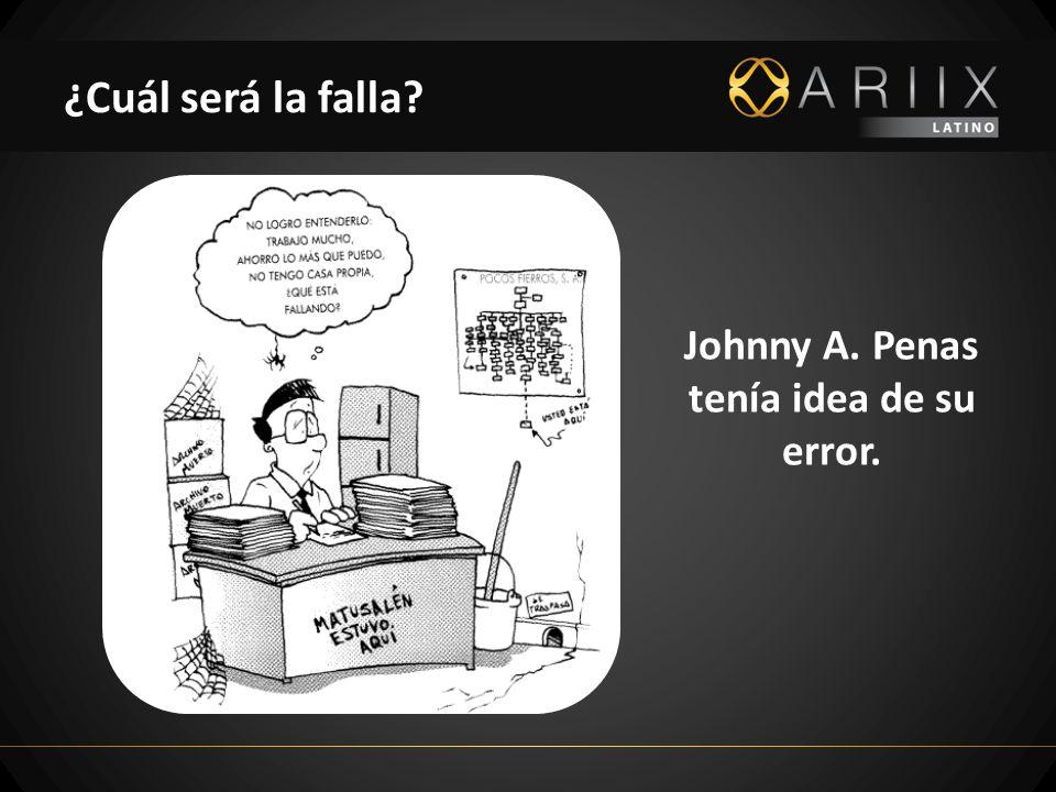 ¿Cuál será la falla? Johnny A. Penas tenía idea de su error.
