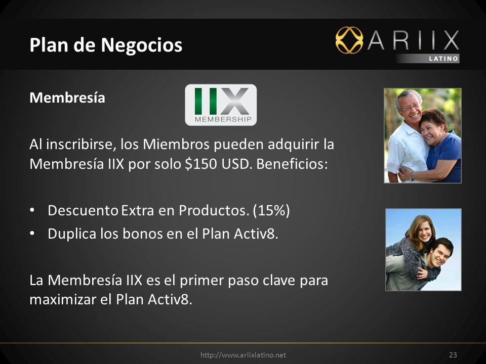 Membresía Al inscribirse, los Miembros pueden adquirir la Membresía IIX por solo $150 USD. Beneficios: Descuento Extra en Productos. (15%) Duplica los