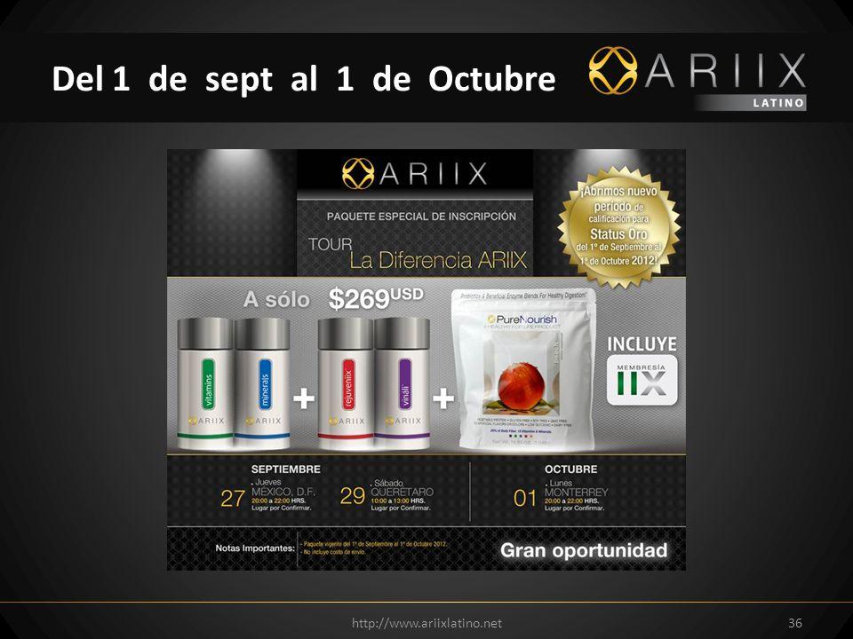 http://www.ariixlatino.net36 Del 1 de sept al 1 de Octubre