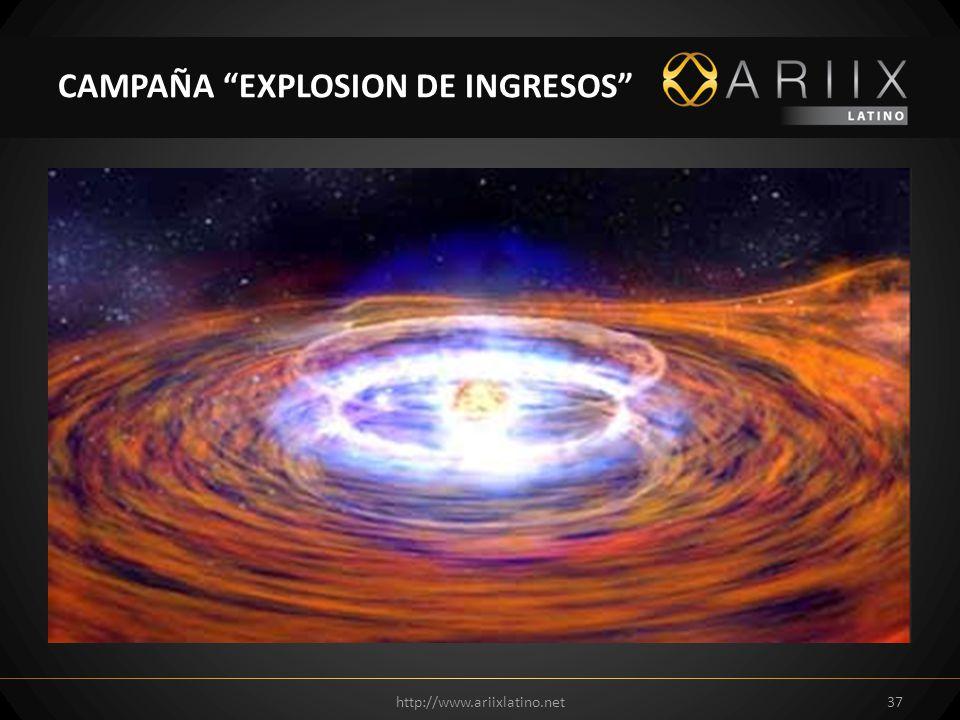 http://www.ariixlatino.net37 CAMPAÑA EXPLOSION DE INGRESOS